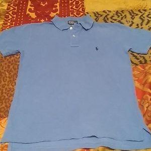 Boys Ralph Lauren Sky Blue shirt sleeve Polo